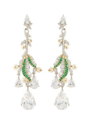 Main View - Click To Enlarge - ANABELA CHAN - 'Lily of the valley' diamond earrings