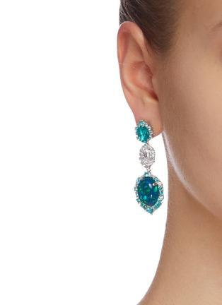 Figure View - Click To Enlarge - ANABELA CHAN - 'Paraiba Ocean' diamond gemstone earrings