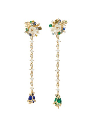 Main View - Click To Enlarge - ANABELA CHAN - 'Emerald Paradise' diamond mother of pearl gemstone earrings