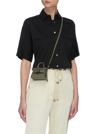 Figure View - Click To Enlarge - BOYY - 'Mini Karl Charm' Leather Bag