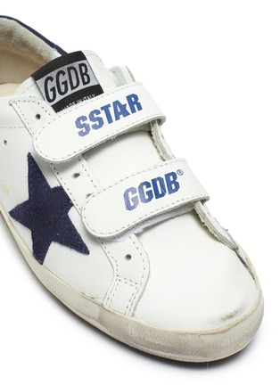 Detail View - Click To Enlarge - GOLDEN GOOSE - 'Old School' smudged kids leather sneakers