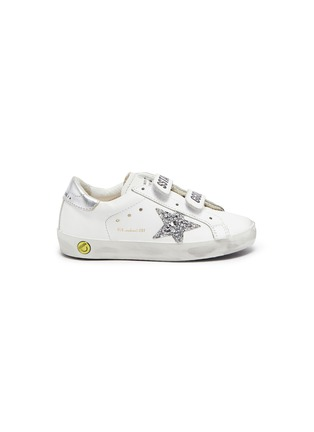 Main View - Click To Enlarge - GOLDEN GOOSE - 'Old School' hook-and-loop strap leather toddler sneakers
