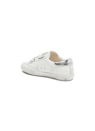 Detail View - Click To Enlarge - GOLDEN GOOSE - 'Old School' sequin star patch kids leather sneakers