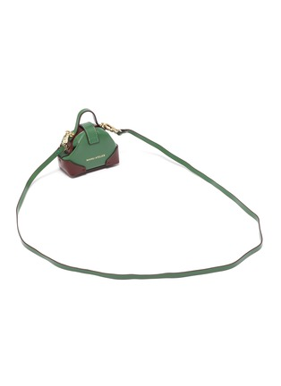 Detail View - Click To Enlarge - MANU ATELIER - Micro denim top handle leather shoulder bag