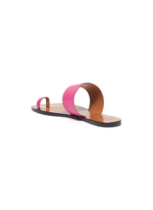 - ATP ATELIER - 'Astrid' toe ring snake embossed leather slides