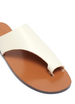 Detail View - Click To Enlarge - ATP ATELIER - 'Rosa' toe ring leather slide sandals