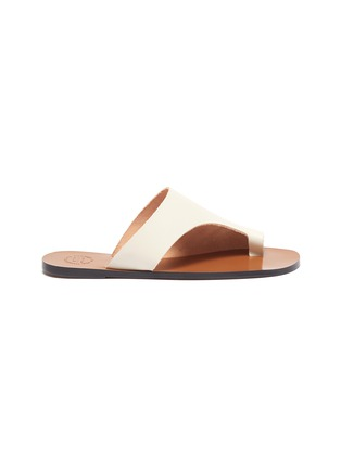 Main View - Click To Enlarge - ATP ATELIER - 'Rosa' toe ring leather slide sandals