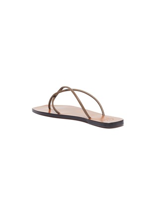 - ATP ATELIER - 'Alessano' twisted toe thong flat leather sandals
