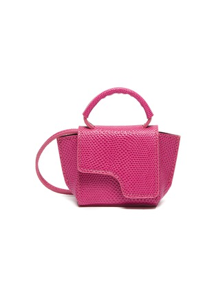 Main View - Click To Enlarge - ATP ATELIER - 'San Gimignano' micro snake embossed leather crossbody bag
