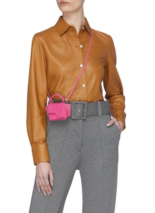Figure View - Click To Enlarge - ATP ATELIER - 'San Gimignano' micro snake embossed leather crossbody bag