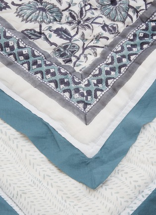 Detail View - Click To Enlarge - MALABAR BABY - Reversible Cotton Quilt – Provence Blue