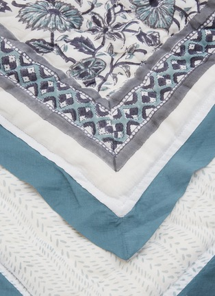 Detail View - Click To Enlarge - MALABAR BABY - King Size Reversible Cotton Quilt – Provence Blue