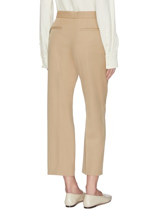 Back View - Click To Enlarge - JIL SANDER - Straight cut crop pants