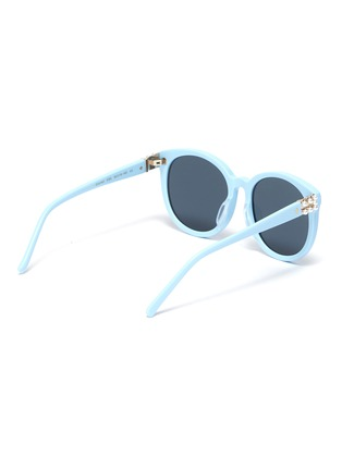 Figure View - Click To Enlarge - FOR ART'S SAKE - 'Scarlett' Faux Pearl Embellished Horn Rimmed Sunglasses