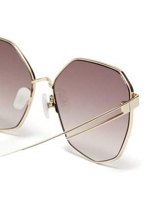 Detail View - Click To Enlarge - FOR ART'S SAKE - 'Moma Champagne' Angular Metal Sunglasses