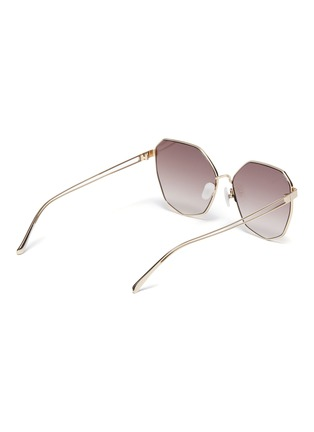 Figure View - Click To Enlarge - FOR ART'S SAKE - 'Moma Champagne' Angular Metal Sunglasses