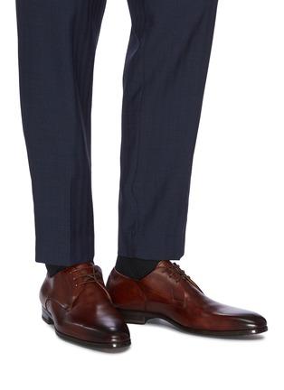 Figure View - Click To Enlarge - MAGNANNI - 'Austin' plain flex derby shoes