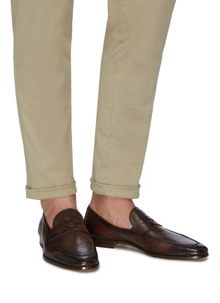 Figure View - Click To Enlarge - MAGNANNI - Leather penny loafer
