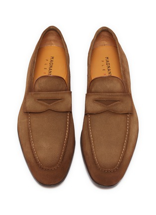 Detail View - Click To Enlarge - MAGNANNI - Suede penny loafers