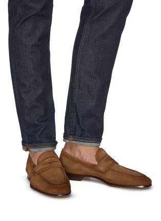 Figure View - Click To Enlarge - MAGNANNI - Suede penny loafers