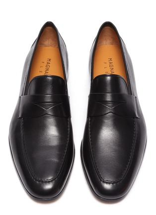 Detail View - Click To Enlarge - MAGNANNI - Leather penny loafer