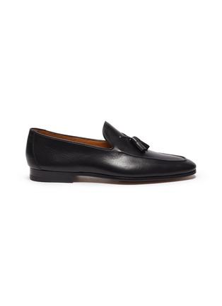 black leather loafer shoes mens
