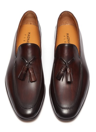 Detail View - Click To Enlarge - MAGNANNI - Leather tassel loafers