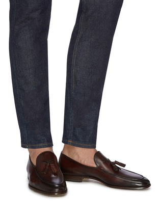 Figure View - Click To Enlarge - MAGNANNI - Leather tassel loafers