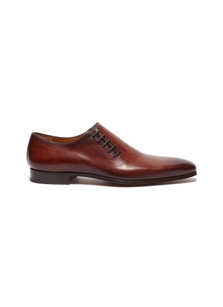 Main View - Click To Enlarge - MAGNANNI - Lace up wholecut leather oxford shoes