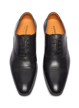 Detail View - Click To Enlarge - MAGNANNI - 'Austin' perforated leather oxford shoes