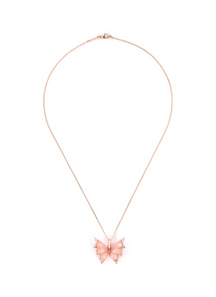 Main View - Click To Enlarge - STEPHEN WEBSTER - 'Fly By Night'  diamond quartz crystal haze 18k rose gold necklace