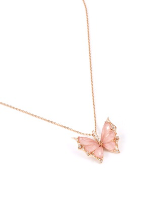 Figure View - Click To Enlarge - STEPHEN WEBSTER - 'Fly By Night'  diamond quartz crystal haze 18k rose gold necklace