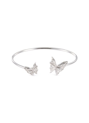 Main View - Click To Enlarge - STEPHEN WEBSTER - 'Fly By Night' diamond 18k white gold flexi bangle