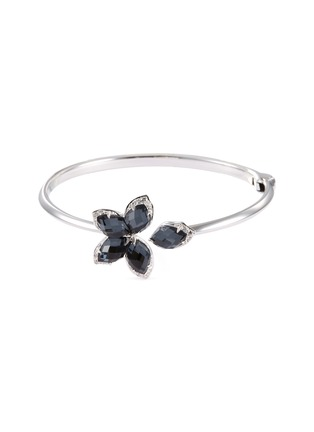 Main View - Click To Enlarge - STEPHEN WEBSTER - 'Love me, Love Me Not' diamond hematite 18k white gold bangle
