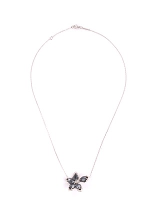 Main View - Click To Enlarge - STEPHEN WEBSTER - 'Love me, Love Me Not' diamond hematite 18k white gold necklace