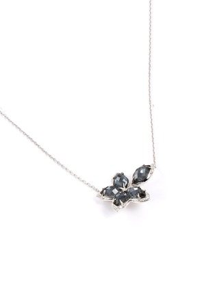 Figure View - Click To Enlarge - STEPHEN WEBSTER - 'Love me, Love Me Not' diamond hematite 18k white gold necklace