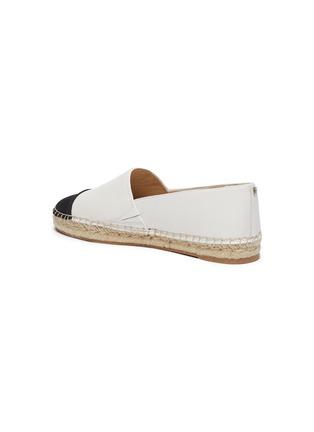 - SAM EDELMAN - 'Krissy' contrast toe leather espadrilles