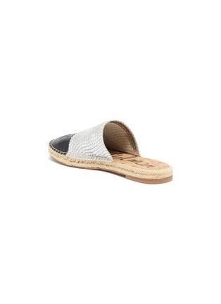 - SAM EDELMAN - 'Karter' contrast toe woven leather slide in espadrilles