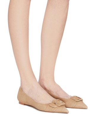 Figure View - Click To Enlarge - SAM EDELMAN - 'Sonja' buckle suede skimmer flats