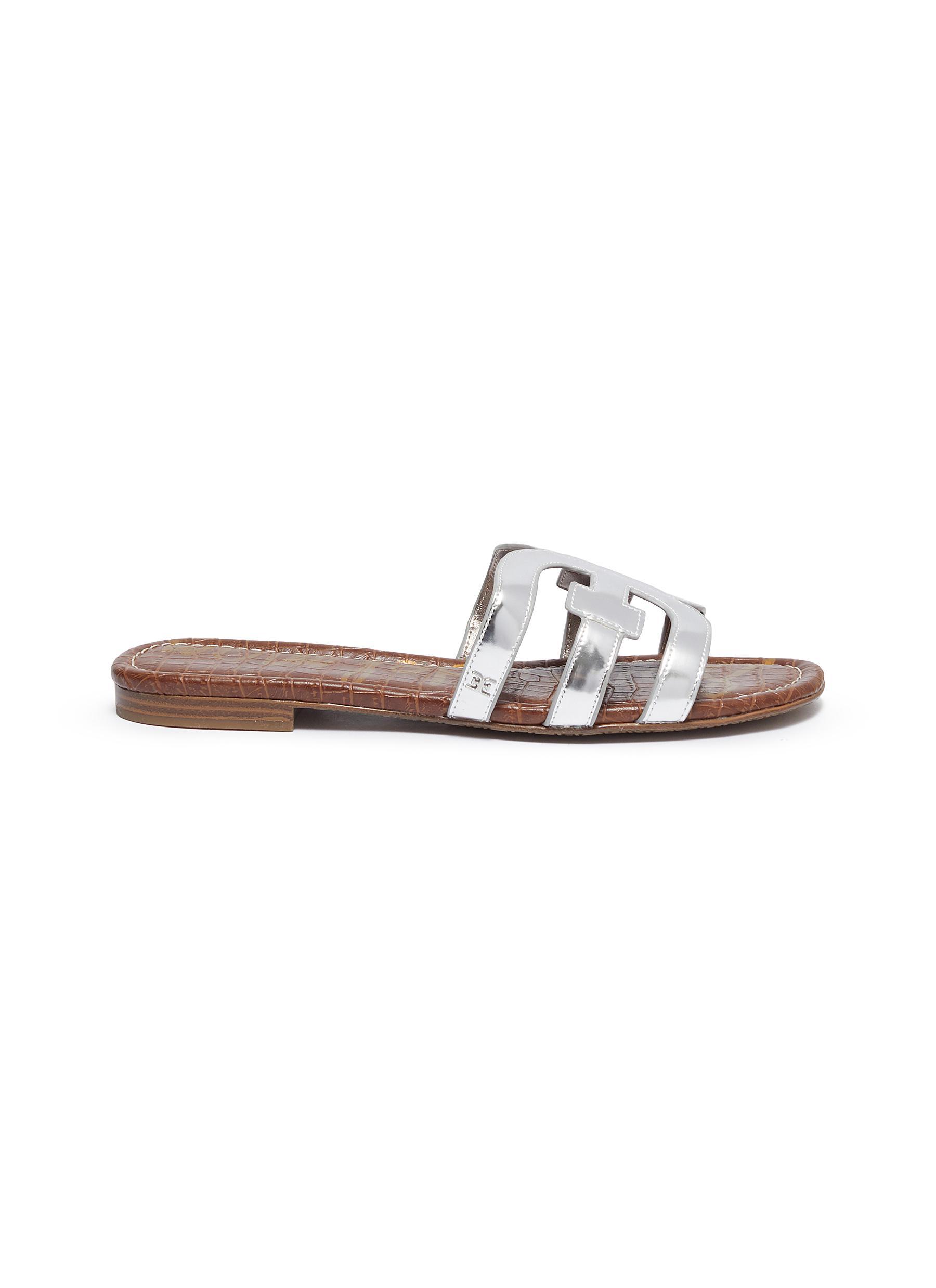 shop Sam Edelman 'Bay' metallic leather slide sandals online