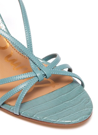 Detail View - Click To Enlarge - SAM EDELMAN - 'Pippa' strappy croc-embossed leather sandals