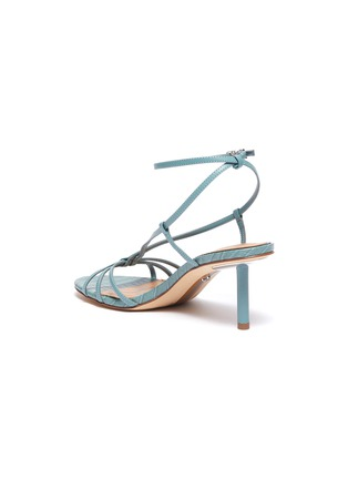 - SAM EDELMAN - 'Pippa' strappy croc-embossed leather sandals