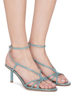 Figure View - Click To Enlarge - SAM EDELMAN - 'Pippa' strappy croc-embossed leather sandals