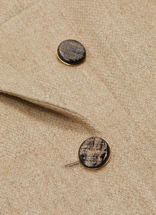 - VICTORIA BECKHAM - Peak lapel contrast belted tailored coat