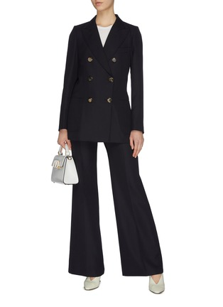 Figure View - Click To Enlarge - VICTORIA BECKHAM - Wide leg suiting pants