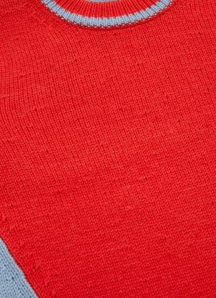 - VICTORIA BECKHAM - Asymmetric colourblock wool-alpaca blend crop sweater