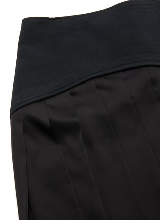 - VICTORIA BECKHAM - Contrast panel pleated skirt