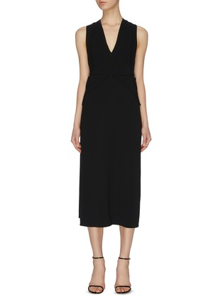 Main View - Click To Enlarge - VICTORIA BECKHAM - Cross back panel dress
