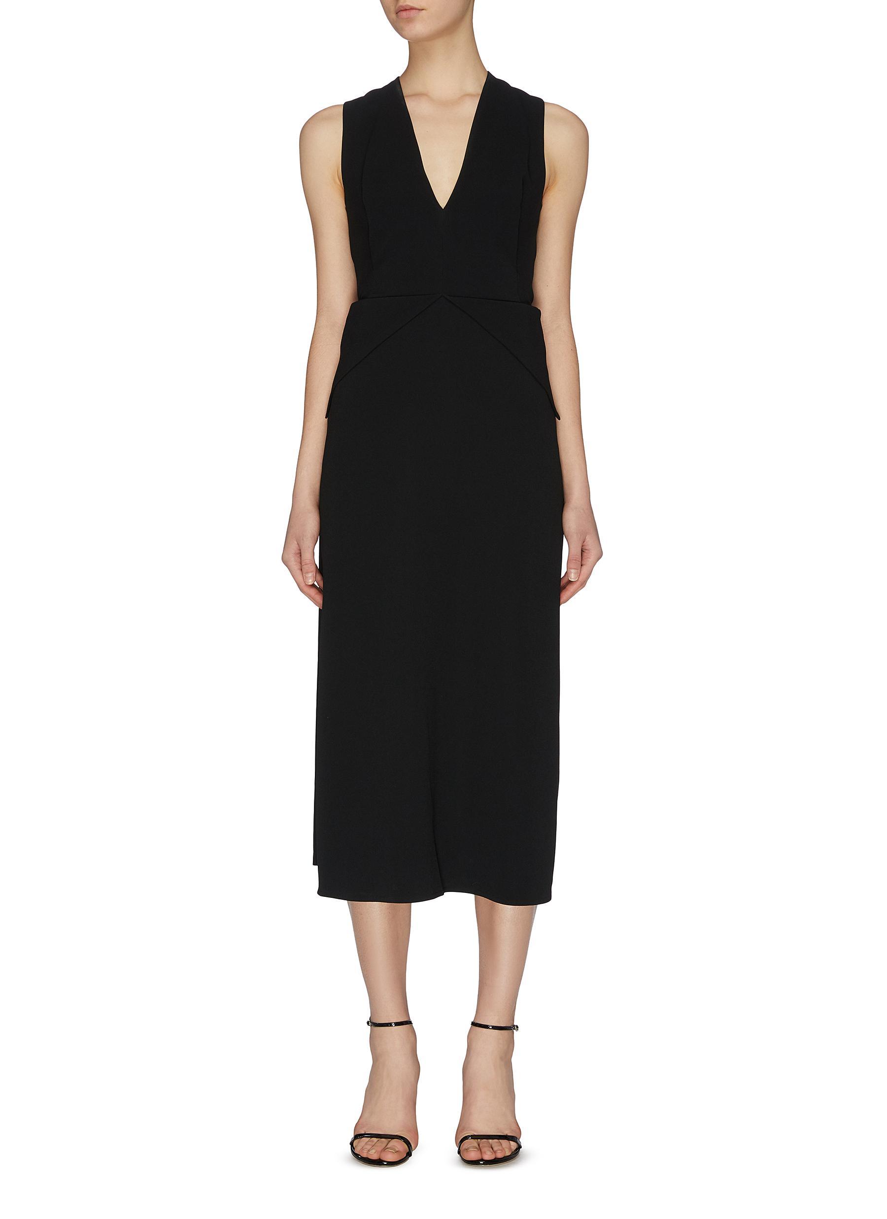 shop Victoria Beckham Cross back panel dress online