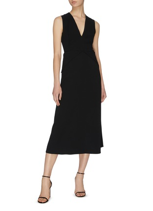 Figure View - Click To Enlarge - VICTORIA BECKHAM - Cross back panel dress